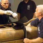 Operazioni di smontaggio e rimontaggio - Premio Traslochi S.r.l., Staff Museo Nazionale Etrusco di Villa Giulia - 20/05/2013