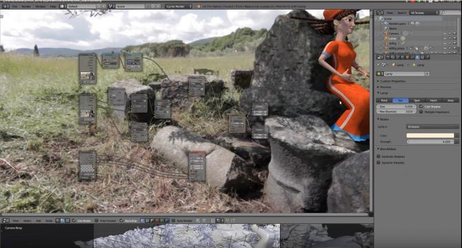 Workflow di produzione di una scena di Experience Etruria: CG in riprese dal vivo