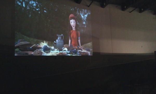 Ati nella sala cinema di Digital Heritage 2015