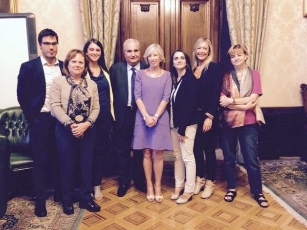 La delegazione del progetto Experience Etruria in visita dal Ministro Giannini