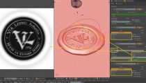 How to: a sealing wax stamp animation in Blender
